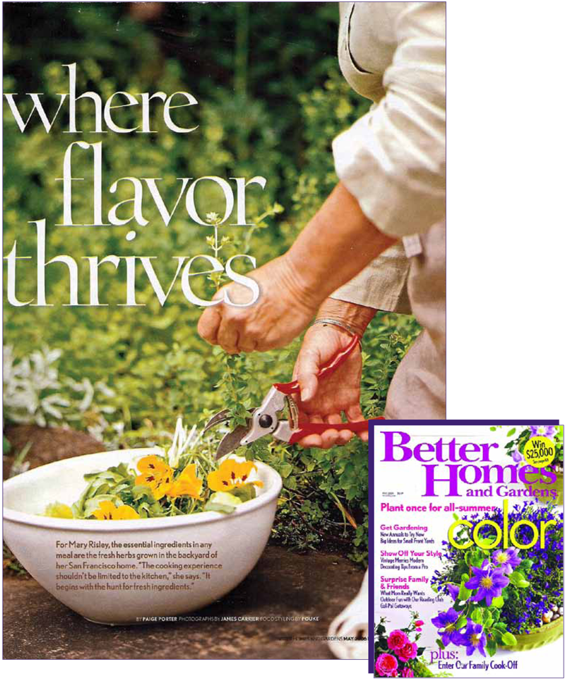 Page 1 of 14. Better Homes and Garden magazine article Where Flavor Thrives.
