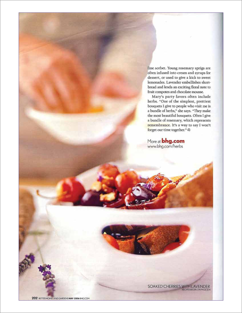 Page 10 of 14. Better Homes and Garden magazine article Where Flavor Thrives.