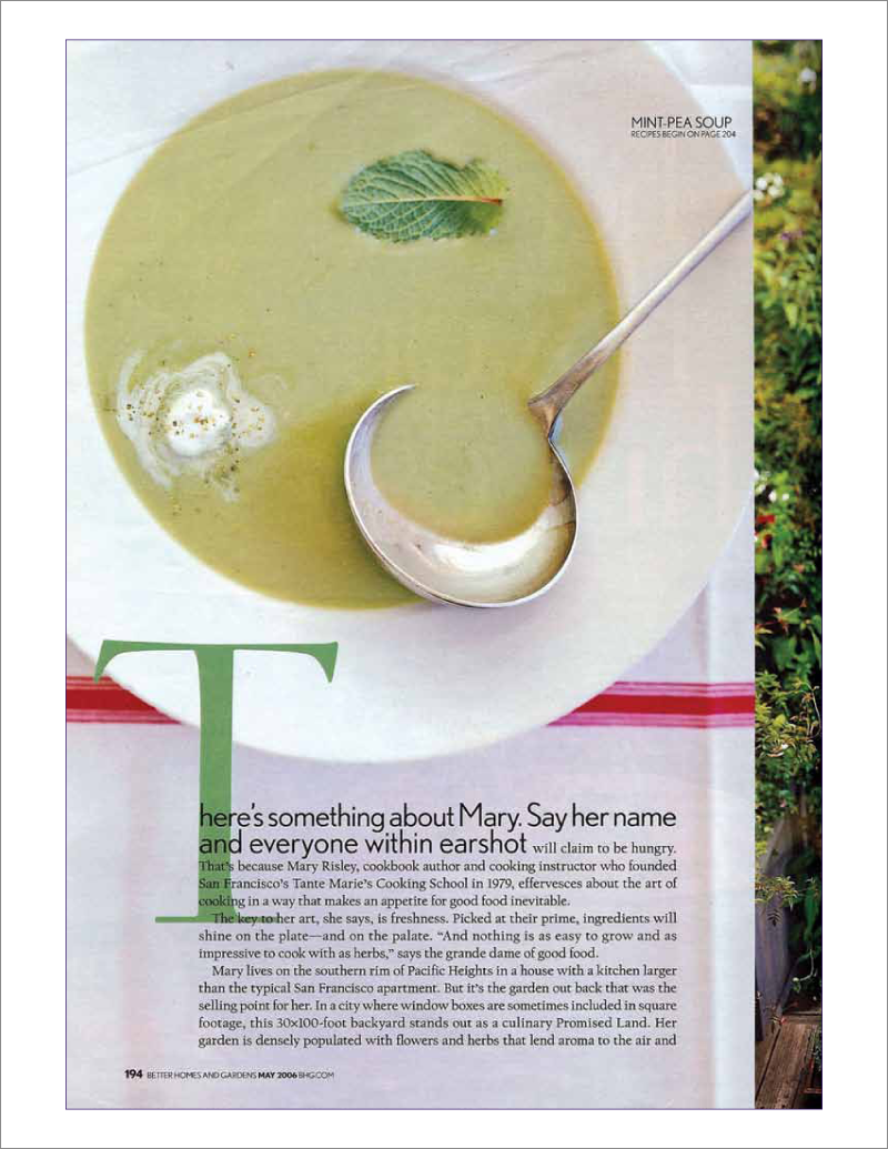 Page 2 of 14. Better Homes and Garden magazine article Where Flavor Thrives.