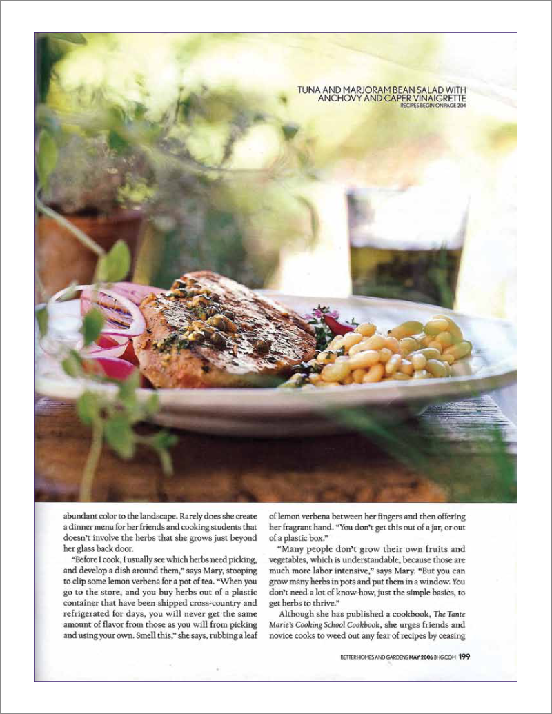 Page 7 of 14. Better Homes and Garden magazine article Where Flavor Thrives.