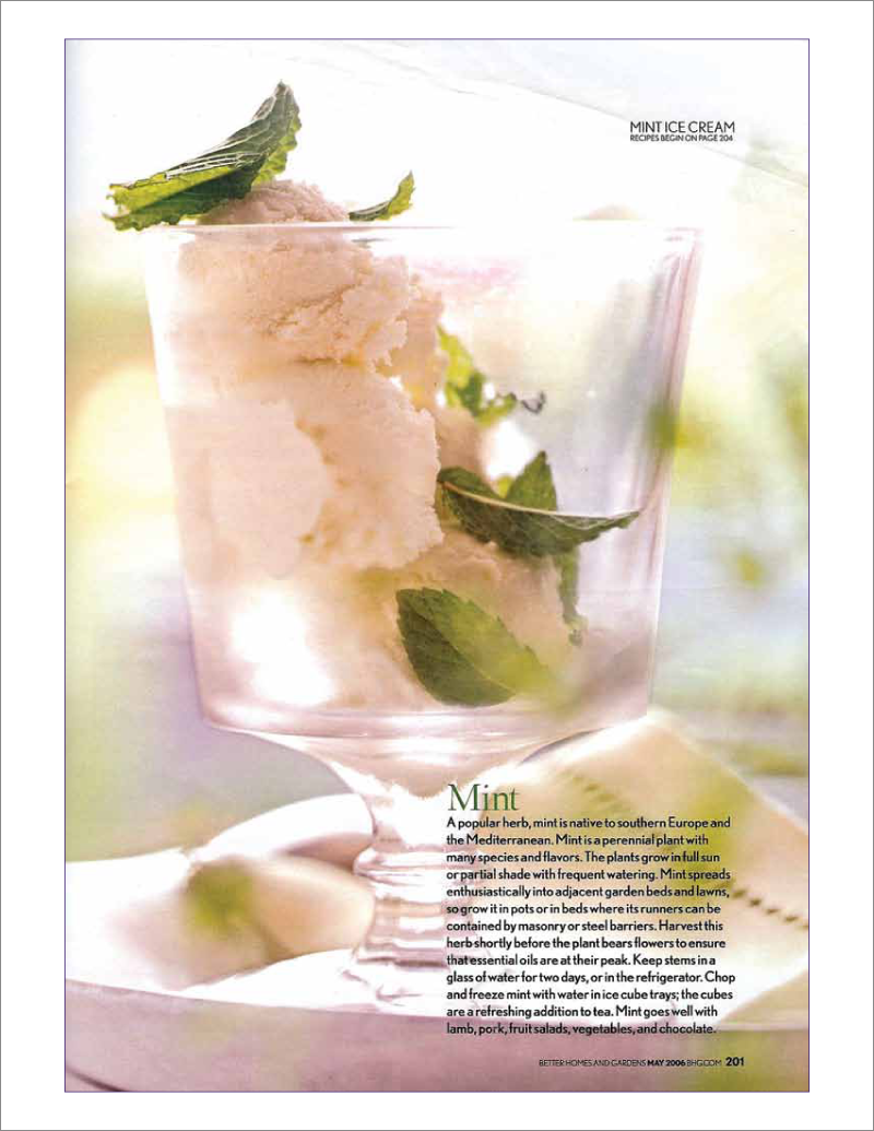 Page 9 of 14. Better Homes and Garden magazine article Where Flavor Thrives.